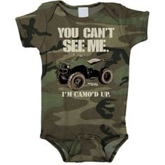 Search results for: 'smooth industries quad ridin kids motocross rompers' Camouflage Baby, Quad, Boy Onesie, Onesies, Baby Boy Outfits, Kids Outfits, You Can't See Me, Baby Bike, Baby Boy Themes