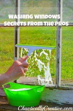 Washing windows like a pro