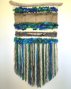 Weaving woven wall hanging