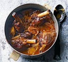 A cross between a Persian stew and Moroccan tagine, the spices in this slow cooked one-pot are mellow. Serve with rice, couscous or flatbreads.