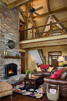 timber frame ceilings | cattail lodge timber frame home greatroom 2 this timber home s central ...
