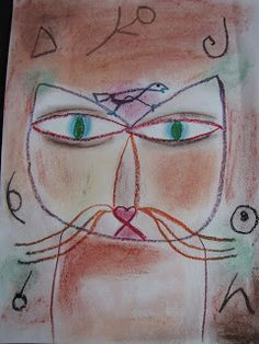 Do Art!: Paul Klee Art Lesson-could work for many grades, oil pastel with chalk pastel