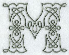 M Letter Design | ... Designs at Embroidery Library! - Celtic Knotwork Letter M - 4 Inch