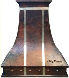 """Vintage style Copper Vent Hood with """"Windsor"""" design. #copperventhood #venthood #mycustommade"""