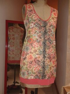 Lace dress with cream lining
