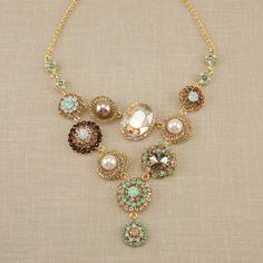 Ornate Crystal Necklace & Earrings Set