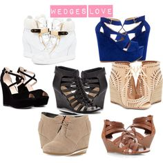 """""""Wedges"""" by sushma-reddy on Polyvore"""
