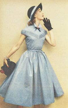 1950s little blue dress