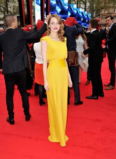 Emma Stone Actress Emma Stone  attends 'The Amazing Spider-Man 2' world premiere at the Odeon Leicester Square on April 10, 2014 in London, England.