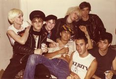 Mike Ness, members of Youth Brigade and friends