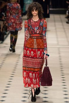 Indian Block print and Kantha stitch - Burberry Prorsum Fall 2015 Ready-to-Wear - Collection - Gallery - Style.com