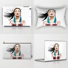 Sakura collection. Interior decor, art prints, pouches, tote bags, phone cases, laptop and iPad skins and so much more an Society6 by DLav.