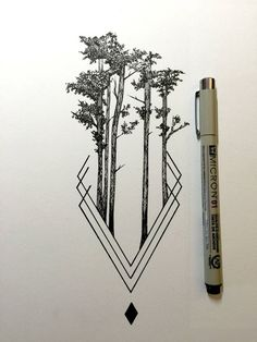 Daily Drawings by Derek Myers – Fubiz Media www.age… Daily Drawings by Derek Myers – Fubiz Media www. Illustration Tattoo, Ink Illustrations, Et Tattoo, Tiki Tattoo, Tattoo Ribs, Wolf Tattoos, Nature Tattoos, Tatoos, Rib Tattoos