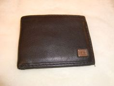 Nice Tommy Hilfiger Men's Black Pebbled Leather Bi Fold Wallet EUC  #TommyHilfiger #Bifold