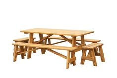Take your family outdoors for the next family meal and use the Amish Pine Wood Outdoor Three Piece Dining Set. This wooden dining set provides plenty of room fo Outdoor Tables And Chairs, Outdoor Dining Furniture, Outdoor Dining Set, Garden Furniture, Pine Wood Furniture, Amish Furniture, Pine Table And Chairs, Dining Table, Dining Sets