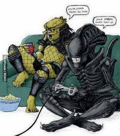 Alien vs predator sex comix