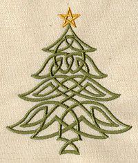 Celtic Christmas Tree design (UT3956) from UrbanThreads.com