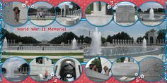 washington dc scrapbook layouts | Here is the next page I've created for my Washington D.C. album.