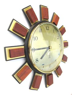 French vintage wall clock RESTORED Mid Century by MyPetitVintage