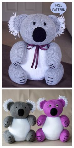 Knit Toy Koala Amigurumi Free Knitting Patterns Knit Toy Koala Amigurumi Free Knitting Patterns Always aspired to learn how to knit, but unclear how to start? Teddy Bear Knitting Pattern, Knitted Doll Patterns, Animal Knitting Patterns, Knitted Dolls, Stuffed Animal Patterns, Crochet Pattern, Free Crochet, Knitted Bunnies, Knitted Teddy Bear