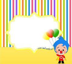 plim-plim-marcos-infantiles-imagenes-de-plim-plim-cumpleanos-tarjetas-plim-plim-invitaciones-plim-plim-fiesta-cumpleanos Clown Party, 3rd Birthday, Happy Birthday, Birthday Parties, Yazoo, Birthdays, Baby Shower, Album, Creative