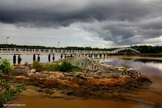 Storm Approaching Footbridge Over South West Rocks Creek, South West Rocks, Mid North Coast, NSW