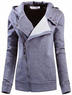 Slim Fit Zip-Up Hoodie. #comfy