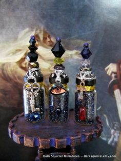Three Sisters of Darkness Potion set dollhouse by DarkSquirrel, $20.00