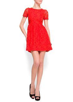 Mango lace dress
