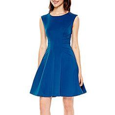 jcp | Studio 1® Sleeveless Scuba Fit-and-Flare Dress