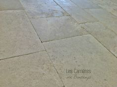 Still THE Saint Germain color but nicely aged. Our Valmy Finish for an exquisite flooring so chic and French!  is an amazing reedition of the barr blonde #french #stoneflooring #anticstone #design  #anticlimestone #castle #barrblond