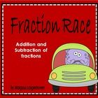 Fraction Race  This Fraction Race was compiled to reinforce addition and subtraction of fractions. It can also be used as a revision activity.  Lea...