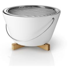 Designer table grill/barbecue in white Porcelain. Browse our designer barbecues and alfresco dining accessories. Modern Furniture, Furniture Design, Barbecues, Barbecue Grill, Al Fresco Dining, White Porcelain, Home And Garden, Fire, Table