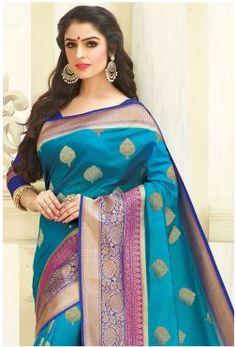 Tussar Silk Saree, Silk Sarees Online, Sherwani, Indian Beauty Saree, Floral Style, Saree Collection, Traditional Dresses, Indian Wear, Sari