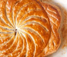 """""""At Flour, we give our own spin to the pithivier by omitting the rum and adding a thick layer of caramelized apple butter atop the almond cream. It's a spectacular dessert."""" Apple Pithivier from Chef Joanne Chang, Flour Bakery Fall Desserts, Just Desserts, Dessert Recipes, French Desserts, Sweet Desserts, Dessert Ideas, Delicious Desserts, Quiches, Traditional French Recipes"""
