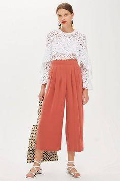 57db6cc3cd4 Pleat Detail Culottes - Pants  amp  Leggings - Clothing - Topshop USA  Jumpsuit For Wedding