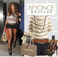 """993. Celeb Style : Beyonce Knowles (15.08.2010)"" by munarina ❤ liked on Polyvore"