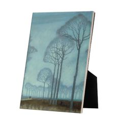 Row of Trees on tile with easelback Exhibition Space, Great Love, Art Reproductions, High Gloss, Masters, The Row, Tiles, Museum, Display