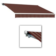 AWNTECH 16 ft. Galveston Semi-Cassette Left Motor with Remote Retractable Awning (120 in. Projection) in