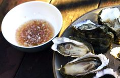Oysters on the Half Shell with Asian-Inspired Mignonette