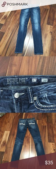 Miss me distress skinny jeans Like new condition. No tears or stains Miss Me Jeans Skinny