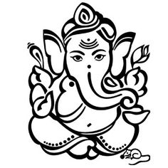 Ganesha Line Drawing At GetDrawings Ganpati Drawing, Ganesha Drawing, Lord Ganesha Paintings, Ganesha Art, Ganesha Tattoo, Sri Ganesh, Outline Drawings, Art Drawings Sketches, Ganesh Ji Images