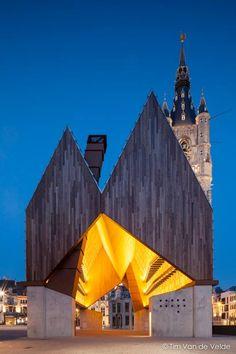 Market Hall in Ghent, Belgium Architect: Marie-José Van Hee, Robbrecht & Daem By Tim Van de Velde