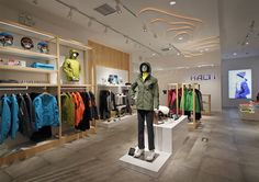 HALTI - Flagship Store Design in Jinyuan Mall Beijing, China by 5 Star Plus Retail Design Boutique Interior, Commercial Interior Design, Commercial Interiors, Visual Merchandising, Online To Offline, Lifestyle Store, Retail Interior, Beijing China, Retail Space