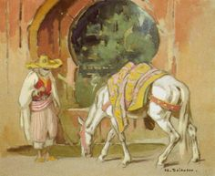Fontaine au Maroc von Edouard Edmond Doigneau