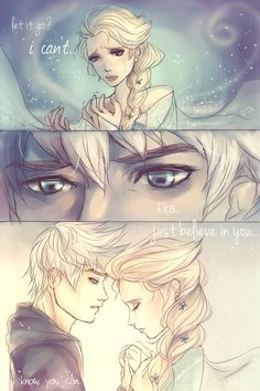 Elsa and Jack Frost.