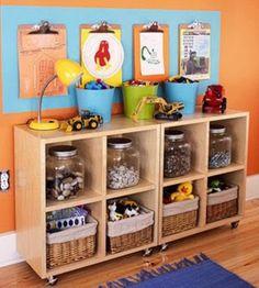 Organizadores artesanais para o quarto das crianças 014