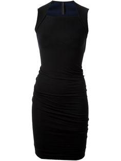 Square Neck Bodycon Dress in Black