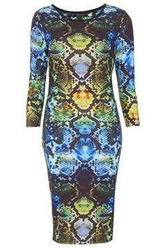 Snake Midi Dress on shopstyle.com