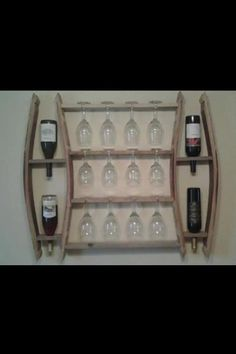 Wall Mount Wine Rack by ANewCreationDesign on Etsy, $295.00